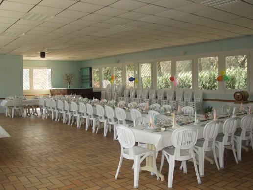 Une vue générale de la salle